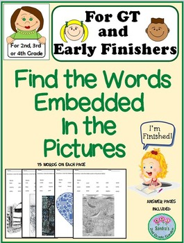 GT or Early Finishers - Find the Embedded Words - for 2nd,