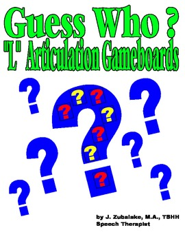 """GUESS WHO? """"L"""" PICTURE ARTICULATION GAME BOARD INSERTS-Spe"""