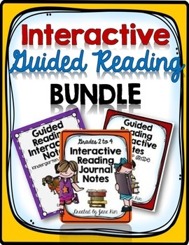 INTERACTIVE GUIDED READING BUNDLE: Kindergarten to 4th Grade