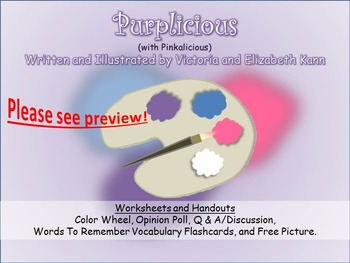 GUIDED READING: Purplicious (w/ Pinkalicious) - Worksheets