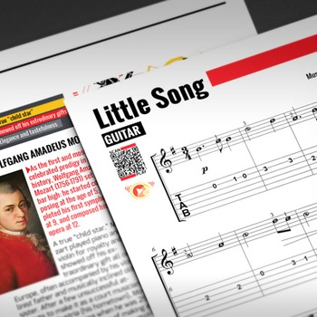 GUITAR SHEET MUSIC: Little Song - W.A. Mozart [Interactive PDF]