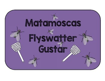 GUSTAR. MATAMOSCAS GAME. FLYSWATTER TO REVIEW GUSTAR.