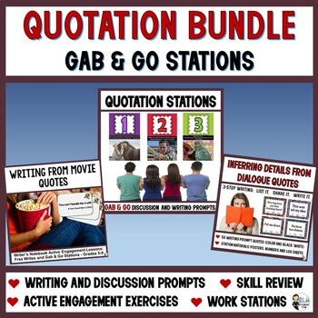 Gab & Go Bundle: 140 Quotation Stations and Quick Write Prompts
