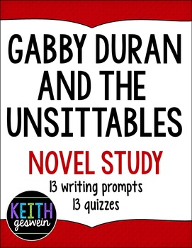 Gabby Duran and the Unsittables: 13 Writing Prompts and 13