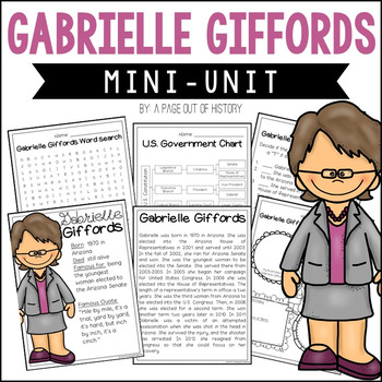 Gabrielle Giffords Mini Unit - Reading Passage, Graphic Or