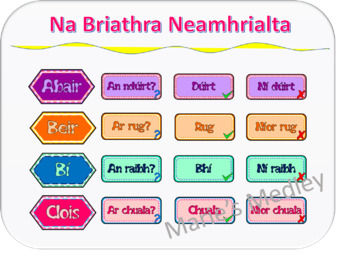 Gaeilge - Briathra Neamhrialta (Irish)