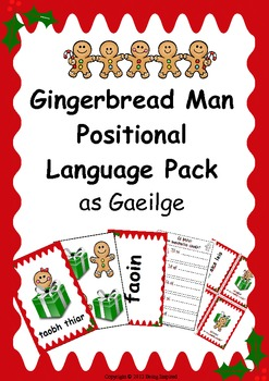 Gaeilge - Positional Language Flashcard pack (Christmas themed)
