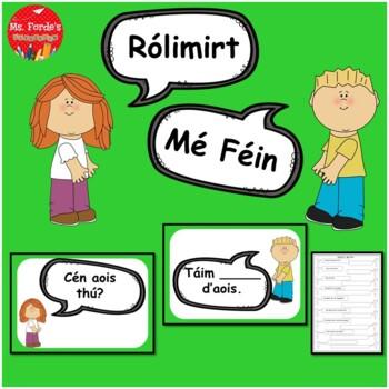 Gaeilge Rólimirt Poster & Worksheet Set Mé Féin (Irish Rol