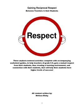 Gain your Student's Respect so they Learn More! These Acti