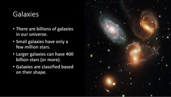 Galaxies PPT and Notes (plus identifying galaxies activity)