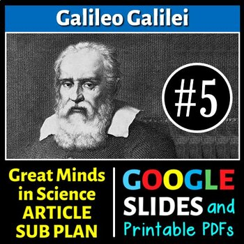 Galileo Galilei - Great Minds in Science Article #5 - Scie