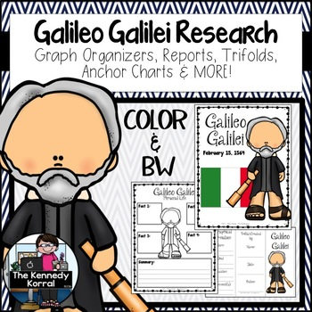Galileo Galilei {Biography Research Trifold, Scientist}