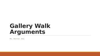 IR Gallery Walk - Arguments - Ppt
