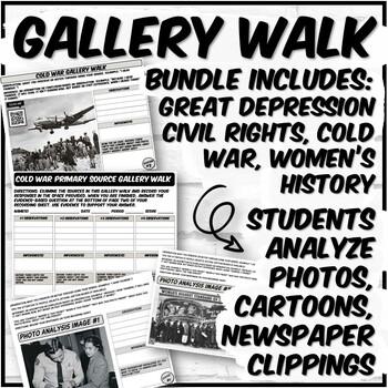 Gallery Walk Bundle (Great Depression, Civil Rights, Women