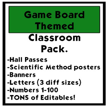 Game Board themed Classroom Pack