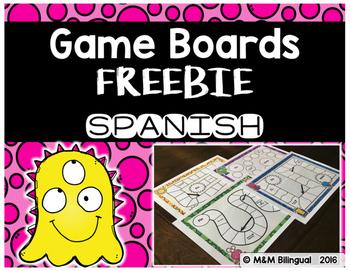 Game Boards FREEBIE {SPANISH}