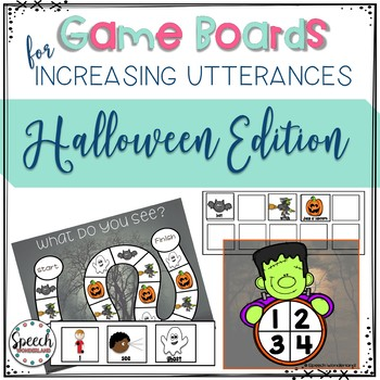 Game Boards for Increasing Utterances - Halloween Edition