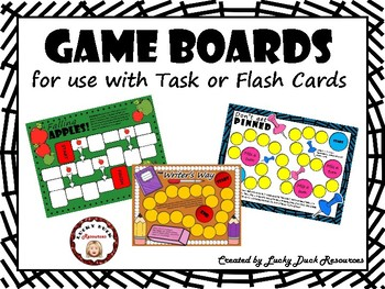 Game Boards for Task or Flash Cards