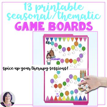 Game Boards for Speech Therapy or Classroom Fun Seasonal