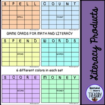 Game Cards for Math and Literacy