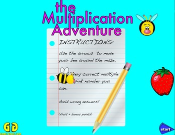 Game-Grok presents: The Multiplication Adventure. (Windows)