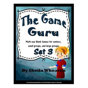 Game Guru #3 - Multi-use blank games for centers, small gr