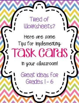 FREE Game Ideas and Tips for Using Task Cards Freebie No M