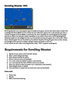Game Maker 8.0/8.1 Scrolling Shooter 1945 Directions