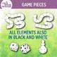Game Pieces Clip Art Set