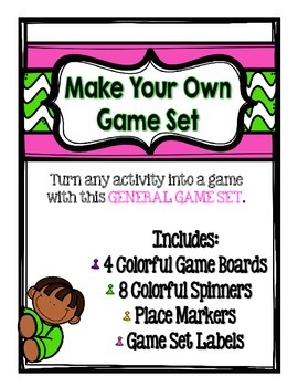 Game Set to use with any Activity- Game boards, Spinners,