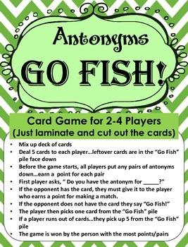 Game of Antonyms...GO FISH!!!