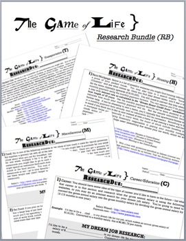 Game of Life - RESEARCH BUNDLE (1/2 year supplemental curr