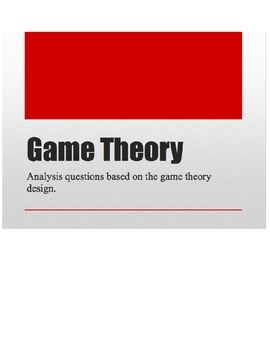 Game theory activity
