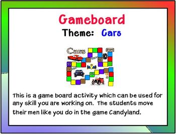 Gameboard Cars Theme