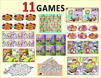 Games: Find the Differences, Maze, Find Identical Images