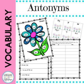 Games: Vocabulary: Word Work: Antonyms are Opposites First Grade
