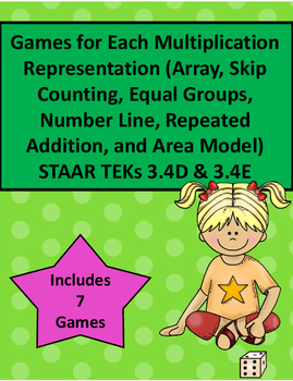 Games for Each Multiplication Representation STAAR TEKs 3.