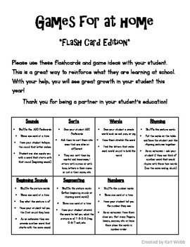 Games for Home {Flash card edition}