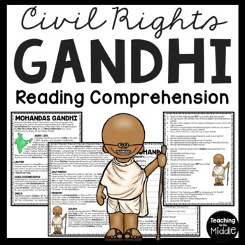 Gandhi Article and Questions, Civil Rights, Indian History