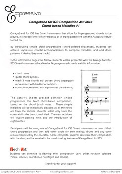GarageBand for iOS Composition Activities - Chord Based Me