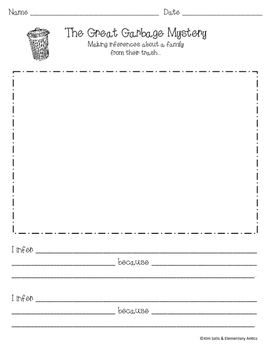 Garbage Inference Lesson Recording Sheet