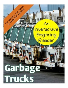 Garbage Trucks Interactive Beginning Reader Book Vehicles