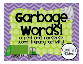 Nonsense and Real Word Sorting Activity - Throw it Away!