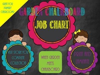 Garden Chalkboard- Job Chart