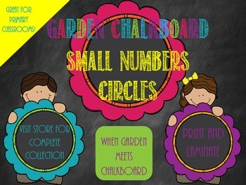 Garden Chalkboard- Small Number Circles