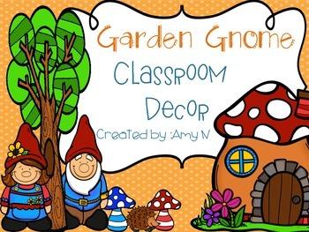 Garden Gnome Classroom Decor