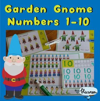 Garden Gnome Number Cards