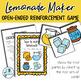 Lemonade Maker: Open Ended Reinforcement Game: Great for S
