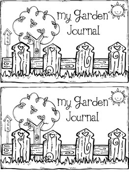 Garden Journal Cover and Word Search