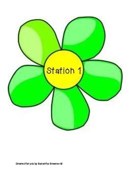 Garden Themed Station Labels